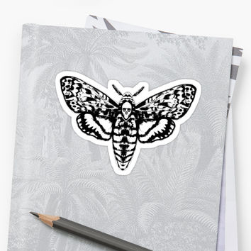 'Death's Head Moth' Sticker by ShayneoftheDead
