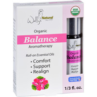 Wallys Natural Products Aromatherapy Blend - Organic - Roll-on - Essential Oils - Balance - .33 Oz