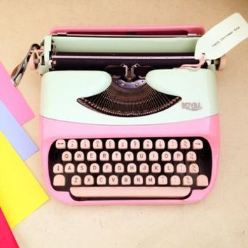 Pastel Royal Typewriter 1960s Vintage
