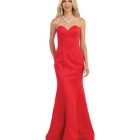 Red Strapless Sweetheart Mermaid Dress 2015 Homecoming Dresses