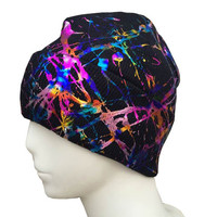 Artisan Made Hand Painted Art Hat Beanie