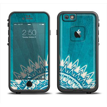 The Blue Spiked Orb Pattern V3 Apple iPhone 6 LifeProof Fre Case Skin Set