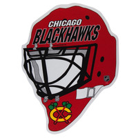Chicago Blackhawks - Goalie Helmet Die-Cut Pennant