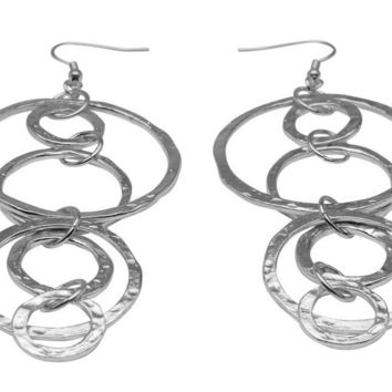 Long Dangle Earrings in Silver