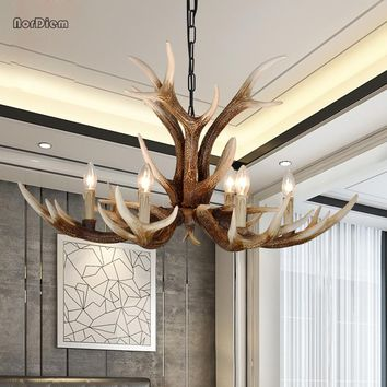 6/8/10 Head Modern Antlers Resin Chandelier