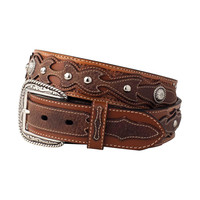 Ariat Sidewinder Men's Western Leather Belt-Tan/Brown 10005793