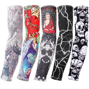 Breathable Quick Dry Fishing UV Protection Running Arm Sleeves Basketball Elbow Pad Fitness Armguards Sports Cycling Arm Warmers
