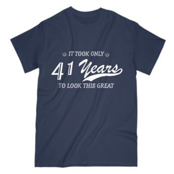 41st Birthday Gift Mens T Shirt Funny Design For Husband Grandpa Uncle Dad