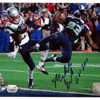 Autographed New England Patriots Malcolm Butler 8x10 Photograph Interception.