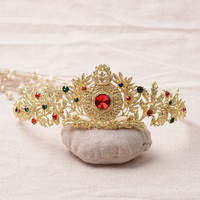 Shiny Jewelry Stylish New Arrival Gift Hair Accessories Vintage Gold Crown Headwear Ring [6586394119]