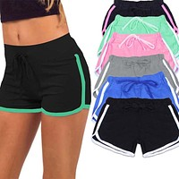 Shorts Workout Waistband Fashion Drawstring Fitness Shorts