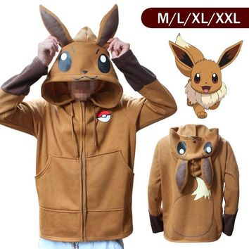 Anime  Go Pikachu Umbreon Ears Hoodies for Women Men Cosplay Costumes Adult Unisex Hoody Sweatshirt Plus SizeKawaii Pokemon go  AT_89_9