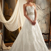Mori Lee 1913 Vintage Lace A-Line Wedding Dress