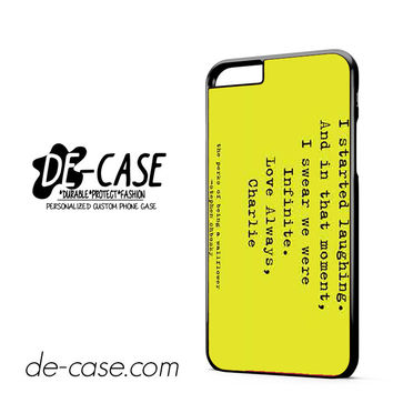 Perks Of Being A Wallflower DEAL-8536 Apple Phonecase Cover For Iphone 6/ 6S Plus