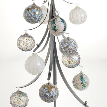 Twelve Days Ornament Tree by Ken Girardini and Julie Girardini (Metal Ornament Stand) | Artful Home