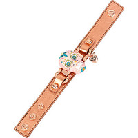 SUGAR CRITTERS SUGAR SKULL LEATHER BRACELET: Betsey Johnson