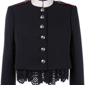 Alexander McQueen Military Lace Insert Jacket - Farfetch