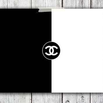 Iconic Chanel Logo Digital Download - Art - Canvas - Poster - Print - Home decor - Typography - wall art - framed art - black and white