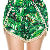 Tropical Pompom Shorts