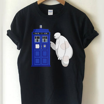 Baymax meet TARDIS T-shirt Men, Women, Youth and Toddler