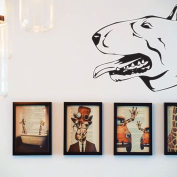 Bull Terrier Vinyl Wall Decal (Removable Sticker)