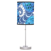 Blueberry Flutes, Abstract Periwinkle Blue Spiral Lamp