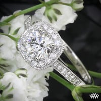 "18k White Gold Vatche ""Grace"" Diamond Engagement Ring"