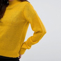 Vila Exclusive High Neck Knitted Sweater at asos.com