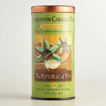 The Republic of Tea Cardamom Caramel Black Tea, 50-Count