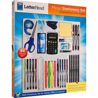 LetterHead  Mega Stationery Set Includes 84 Supplies