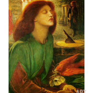 Blessed Beatrice (Beatrix) Art Print by Dante Gabriel Rossetti at Art.com