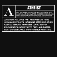"""'This Human is Rated A for """"ATHEIST""""' T-Shirt by Samuel Sheats"""