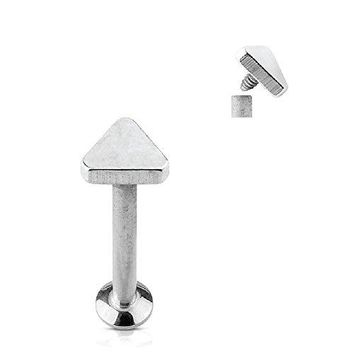 BodyJ4You Tragus Earring Cartilage Triangle Stud Steel Barbell 8mm 16G 1.2mm Piercing Jewelry