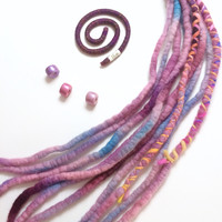 Dreadlock Accessory Set - purple morning glories