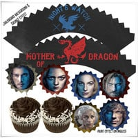 Game of Thrones Cupcake Party Printable Set