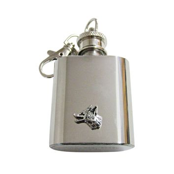 Tiny Fox Head 1 Oz. Stainless Steel Key Chain Flask