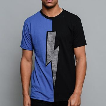 Two Tone Crystal Thunderbolt T-Shirt TS7282 - A1D