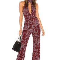 Clayton Clement Jumpsuit in Ruby Starry | REVOLVE