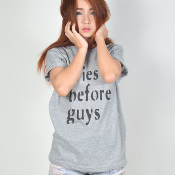 Fries Before Guys T-Shirt Funny T Shirt Tumblr Hipster Teen Women TShirt