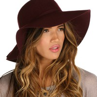 Burgundy Fall Floppy Hat