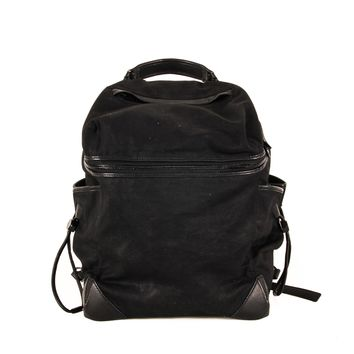 Alexander Wang Black Canvas and Leather Backpack
