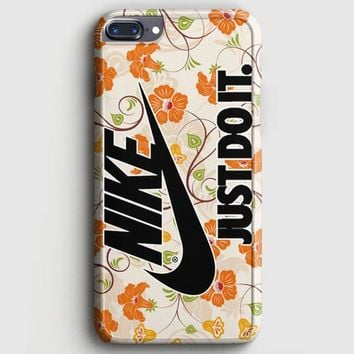 Flowers Nike Just Do It iPhone 8 Plus Case | casescraft