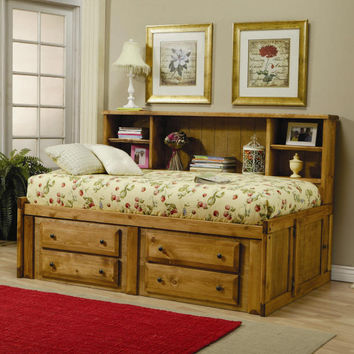 Black Mountain Twin Big Bookcase Captain's Bed