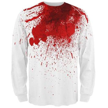 PEAPGQ9 Halloween Decapitated Costume All Over Adult Long Sleeve T-Shirt
