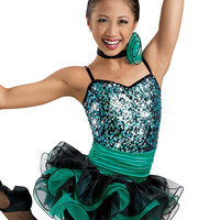 Sequin Dress with Spiral Hem; Weissman Costumes