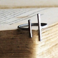 Parallel Bars - Sterling Silver Ring - Made to Order