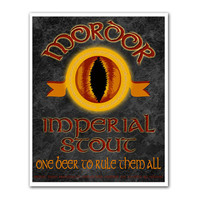 Middle Earth Microbrews Mordor Imperial Stout  8x10 by tiedyejedi