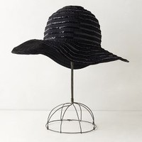 Shimmered Floppy Hat by Anthropologie Black Motif One Size Hats