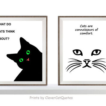 Black cat print Cat portrait Cat quotes Cute cats Cat supplies Cat poster print Green eyes Cat printable Cat minimalist art Instant download