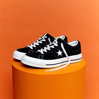 Converse One Star Ox Trainers In Black at asos.com